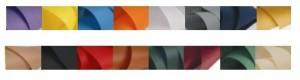 kleuren stof bedrukte waaiers