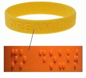 silikonarmbänder für blinde